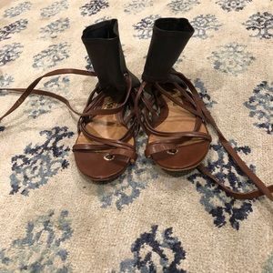 L.A.M.B strappy gladiator sandals size 36